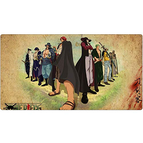 Gaming-Mauspad, One Piece-Tastaturpad, XXL (900x400) (1200x600) 3 mm Verdickte Desktop- Und Desktop-Laptop-Pad von QIUPDE