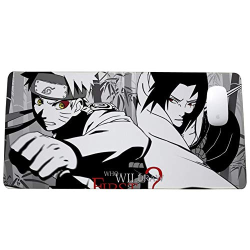 Gaming Mouse Pad, Naruto Anime Keyboard Pad, XXL (900x400) (800x300) 3mm Thickening for Desktop and Laptop Pads von QIUPDE