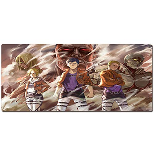 Gaming Mouse Pad, One Piece Naruto, Keyboard Pad Table Mat, XXL (800x400) (900x400) 3mm Thickening for Desktop and Notebook Pads von QIUPDE