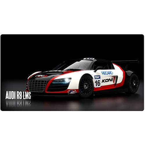 Gaming Mouse Pad, World Famous Car, Keyboard Pad, XXL (900x400) - (1200x600) 3mm Thickening for Desktop Desktop and Laptop Pad von QIUPDE