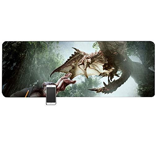 Keyboard for Gaming Mouse Pad, Keyboard Pad, Monster Hunter (800x300), Non-slip, Suitable for Computer, PC and Laptop Mouse Pad von QIUPDE
