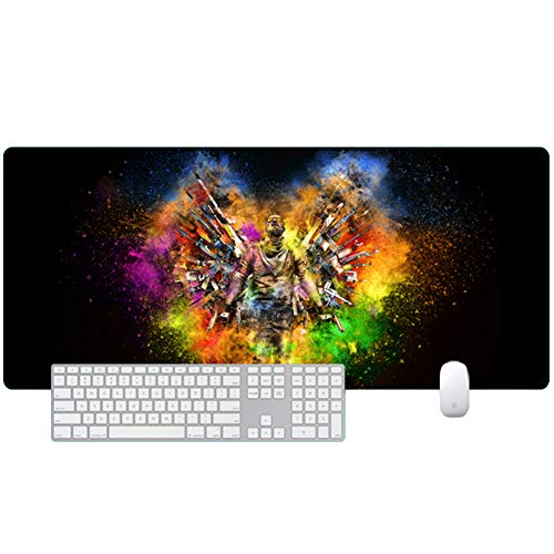 Large XXL Gaming Mouse Pad Keyboard Pad Desktop Pad One Piece 800x300--900x400 Special Surface Enhances Speed and Precision, PC and Laptop Desktop Pad von QIUPDE