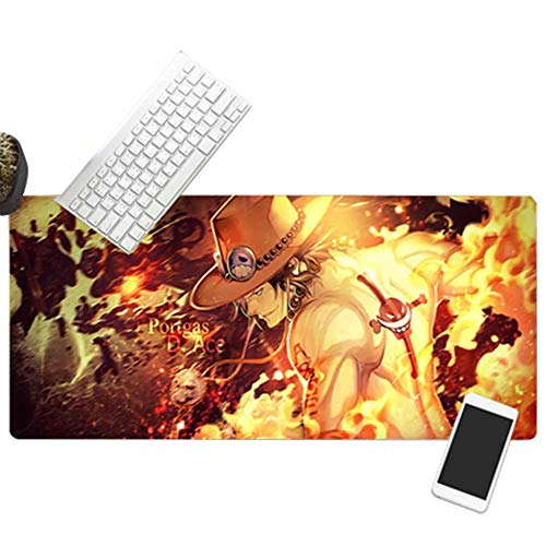 Large gaming mouse pad keyboard pad One Piece XXL800x300--900x400 custom surface to improve speed and accuracy, PC and laptop desktop pad von QIUPDE