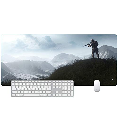 XXL gaming mouse pad keyboard pad desktop pad 900x400X3mm Special Surface for Increased Speed and Precision, Desktop for PC and Laptop von QIUPDE