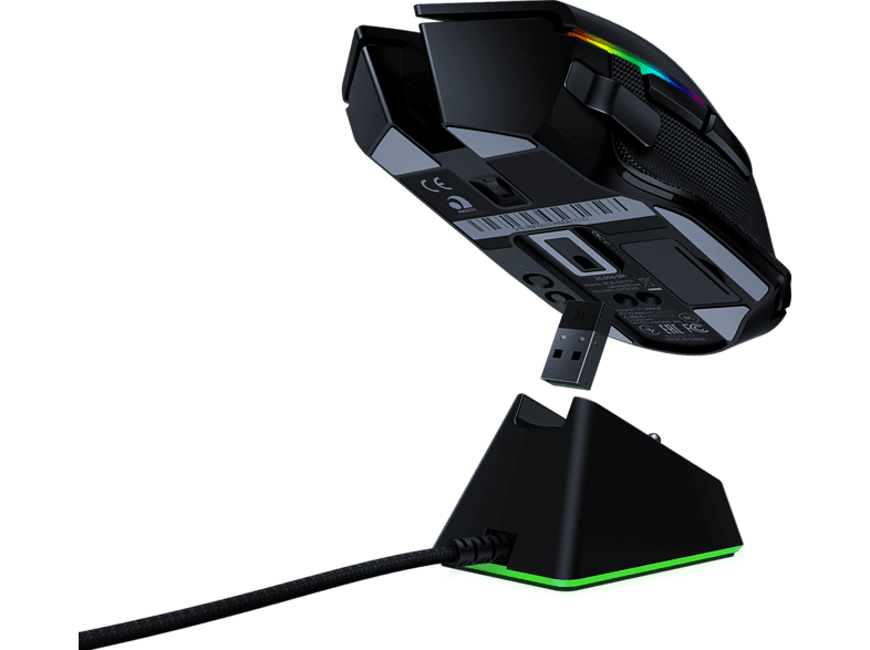 RAZER Basilisk Ultimate und Mouse Dock Wireless Gaming Maus kabellos in Schwarz online von RAZER