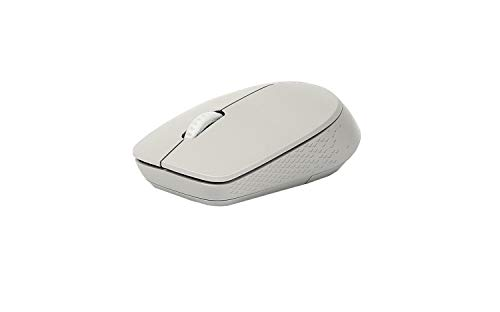 Rapoo M100 Silent kabellose Maus, Bluetooth und Wireless (2.4 GHz) via USB, Multi-Mode,1000 DPI, leise Tasten, hellgrau von Rapoo