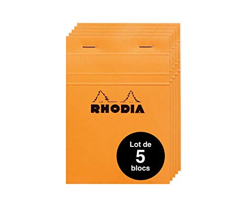 orange 13 kariert RHODIA Spiralnotizblock No DIN A6