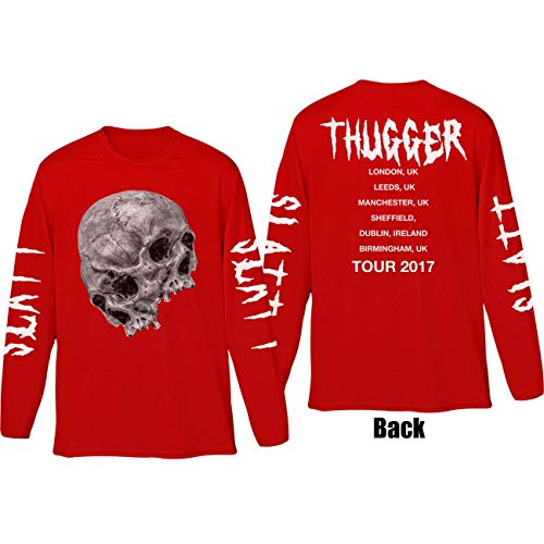 T-Shirt (Unisex Xl)Thugger Skull Red von Rocks-off
