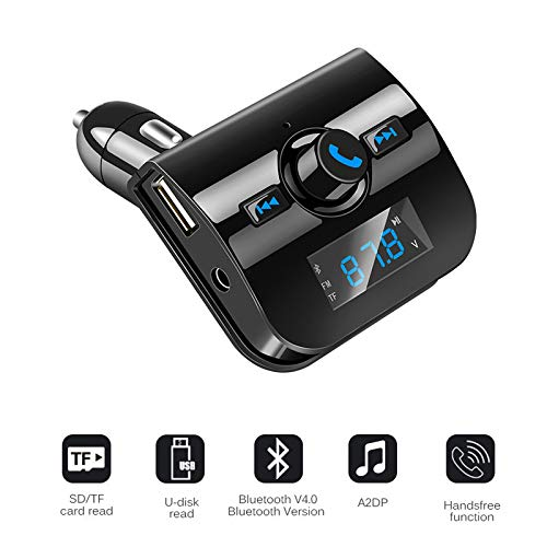 Shot Case FM-Transmitter für Wiko View, Bluetooth, Schwarz von Shot Case