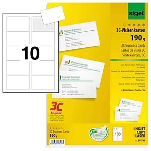 sigel Visitenkarte DP746 bl 200g VE100