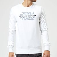 Star Wars The Rise Of Skywalker Logo Sweatshirt - White - L - Weiß von Star Wars
