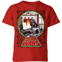 Star Wars A Very Merry Sithmas Kinder T-Shirt - Rot - 7-8 Jahre - Rot von Star Wars