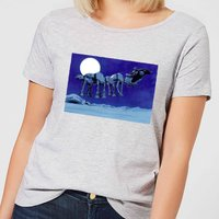Star Wars AT-AT Darth Vader Sleigh Women's Christmas T-Shirt - Grey - 4XL - Grau von Star Wars