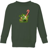 Star Wars Candy Cane Yoda Kids' Christmas Sweatshirt - Forest Green - 7-8 Jahre - Forest Green von Star Wars