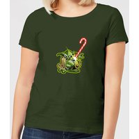 Star Wars Candy Cane Yoda Women's Christmas T-Shirt - Forest Green - XXL - Forest Green von Star Wars