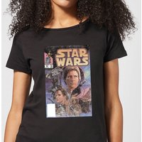 Star Wars Classic Classic Comic Book Cover Damen T-Shirt - Schwarz - M - Schwarz von Star Wars