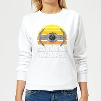 Star Wars Classic Star Wars Sunset Tie Damen Pullover - Weiß - L - Weiß von Star Wars
