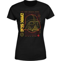 Star Wars Darth Vader Grid Damen T-Shirt - Schwarz - 3XL - Schwarz von Star Wars