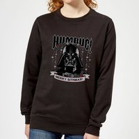 Star Wars Darth Vader Humbug Women's Christmas Sweatshirt - Black - 5XL - Schwarz von Star Wars