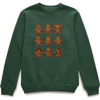 Star Wars Gingerbread Characters Green Christmas Sweatshirt - S - Grün von Star Wars