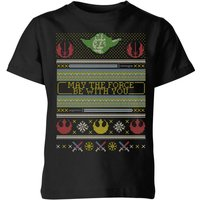 Star Wars May The Force Be With You Pattern Kinder T-Shirt - Schwarz - 5-6 Jahre - Schwarz von Star Wars