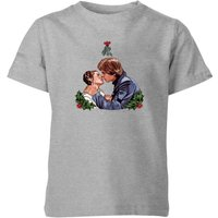Star Wars Mistletoe Kiss Kids' Christmas T-Shirt - Grey - 5-6 Jahre - Grau von Star Wars