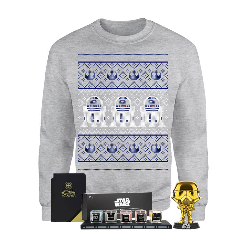 Star Wars Officially Licensed MEGA Christmas Gift Set - Includes Christmas Sweatshirt plus 3 gifts - XL von Star Wars