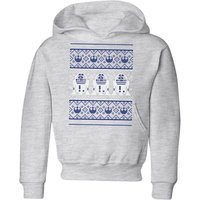 Star Wars R2-D2 Knit Kids' Christmas Hoodie - Grey - 3-4 Jahre - Grau von Star Wars