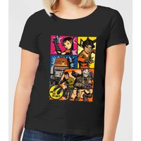 Star Wars Rebels Comic Strip Damen T-Shirt - Schwarz - 5XL - Schwarz von Star Wars
