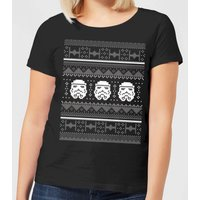 Star Wars Stormtrooper Knit Women's Christmas T-Shirt - Black - 3XL - Schwarz von Star Wars