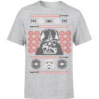 Star Wars Weihnachten Darth Vader Face Sabre T-Shirt - Grau - M - Grau von Star Wars