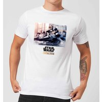 The Mandalorian Scout Trooper Men's T-Shirt - White - L - Weiß von Star Wars