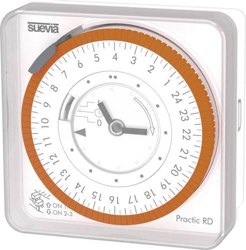 Suevia Zeitschaltuhr für Hutschiene Betriebsspannung 230 V//AC DinO D 1 Wechsler