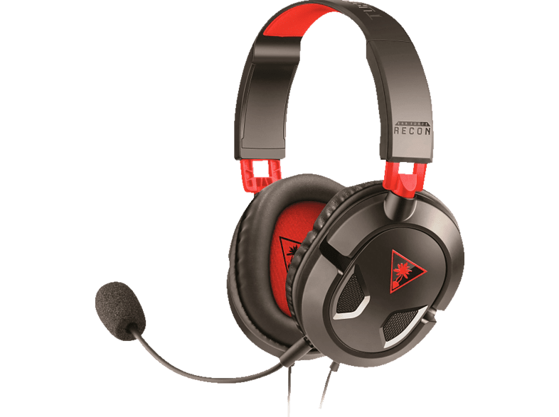 TURTLE BEACH Recon 50 Stereo Headset Schwarz/Rot, Over-ear Schwarz/Rot von TURTLE BEACH