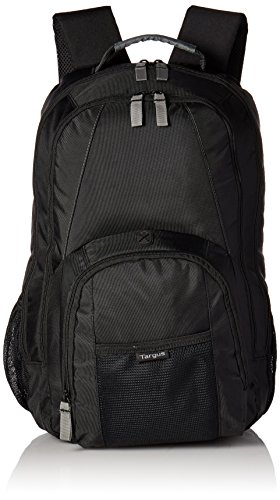Targus Groove Professional Business Laptop Backpack with Padded Compartment, Durable PVC Resistant Material, Front and Side Pouch Pockets, Protective Sleeve fits for 17-Inch Laptop, Black (CVR617) von Targus