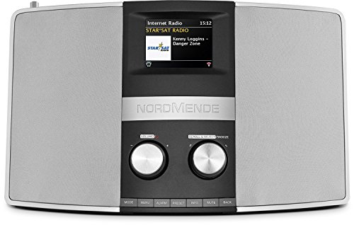 Nordmende Transita 400 - Internetradio (DAB+, UKW, Stereo-Radio, W-LAN, Spotify Connect, Bluetooth-Audiostreaming, NFC, Farbdisplay, Wecker, Kopfhöreranschluss, 2 x 10 Watt, AUX-In) schwarz/silber von TechniSat