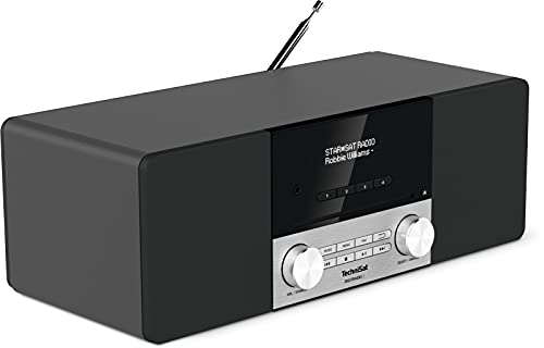 TechniSat DIGITRADIO 3 - Stereo DAB Radio Kompaktanlage (DAB+, UKW, CD-Player, Bluetooth, USB, Kopfhöreranschluss, AUX-Eingang, Radiowecker, OLED Display, 20 Watt RMS) schwarz von TechniSat