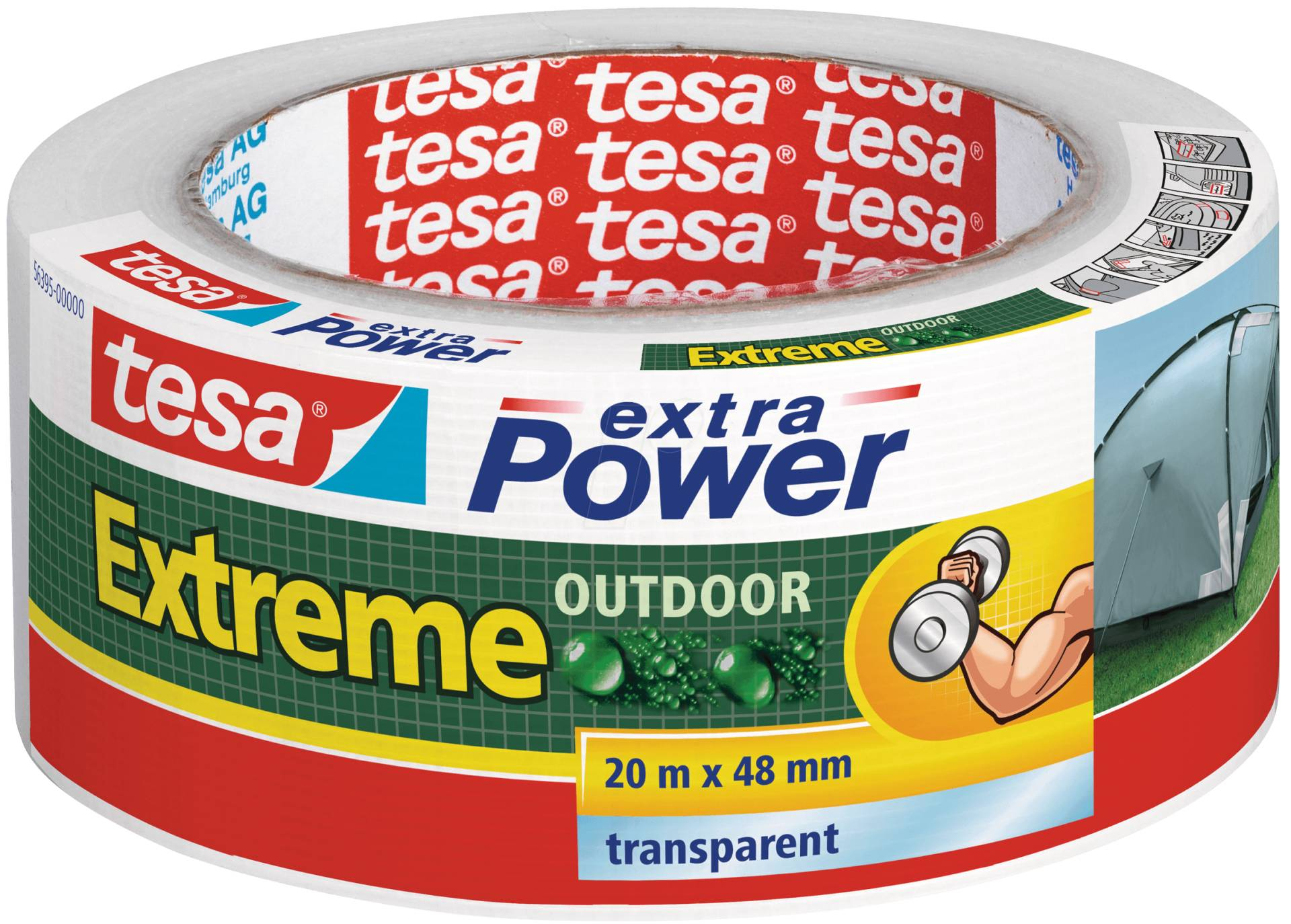 TESA 56395 - Folienband tesa extra Power® Extreme Outdoor, 20 m x 48 mm von Tesa