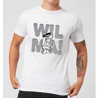 The Flintstones WILMA! Men's T-Shirt - White - M - Weiß von Hanna Barbera