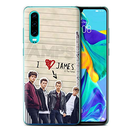 The Vamps Offiziell Hülle/Case für Huawei P30 2019 / James Muster Geheimes Tagebuch Kollektion von The Vamps