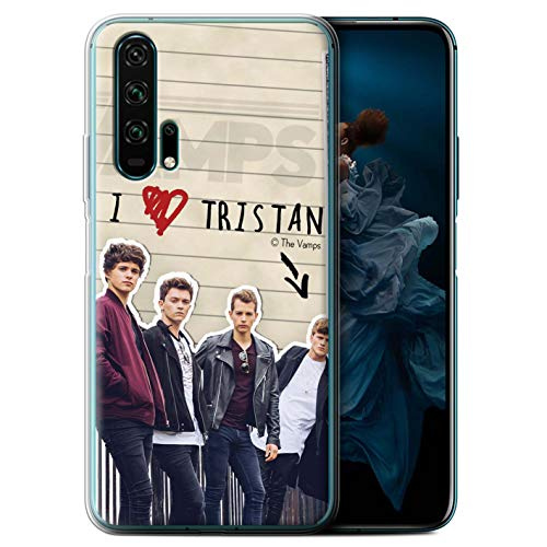 The Vamps Offiziell Hülle/Gel TPU Case für Huawei Honor 20 Pro/Tristan Muster Geheimes Tagebuch Kollektion von The Vamps
