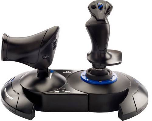 Thrustmaster T.Flight Hotas 4 Flugsimulator-Joystick USB PlayStation 4, PC Schwarz/Blau von Thrustmaster