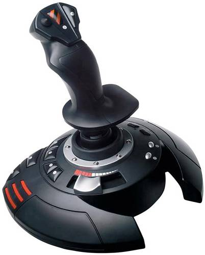 Thrustmaster T.Flight Stick X Joystick USB PC, PlayStation 3 Schwarz, Rot, Silber von Thrustmaster