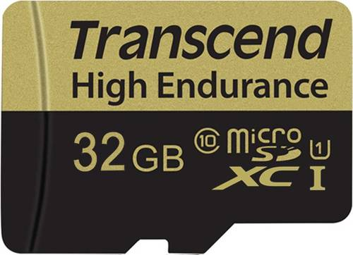 Transcend High Endurance microSDHC-Karte 32GB Class 10 inkl. SD-Adapter von Transcend