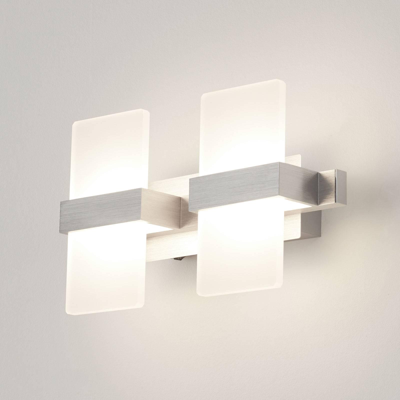 45 cm LED-Wandleuchte 4x 4,5Watt Trio-Leuchten Glas teilsatiniert