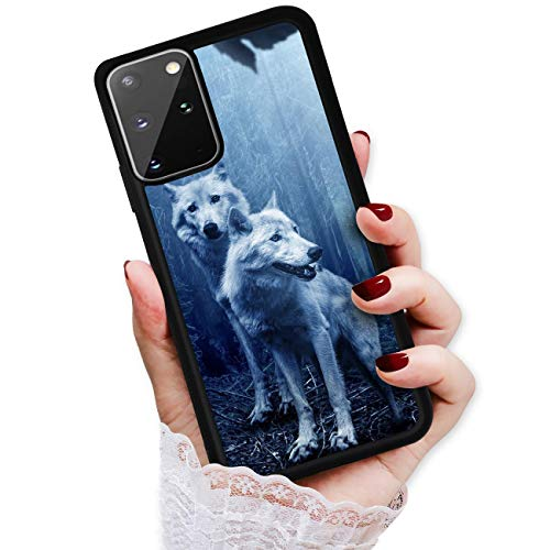 Für Samsung S20+, Galaxy S20 Plus, strapazierfähige Schutzhülle weiche Rückseite Handyhülle, HOT12767 Night Wolf von True Love Jewellery Pty Ltd