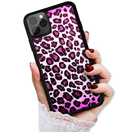 HOT12119 Schutzhülle für iPhone 11 Pro Max, Art Design, weich, Leopardenmuster, Violett von True Love Jewellery Pty Ltd