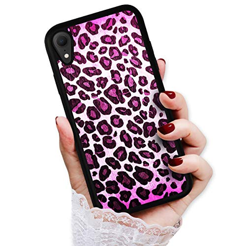 HOT12119 Schutzhülle für iPhone XS, iPhone X, Leopardenmuster, Violett von True Love Jewellery Pty Ltd