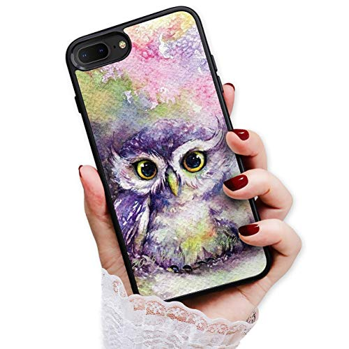 HOT12318 Schutzhülle für iPhone 8, iPhone 7, Art Design Eulenfarbe von True Love Jewellery Pty Ltd