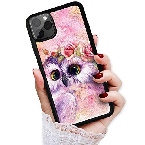 HOT12417 Schutzhülle für iPhone 11 Pro Max, Art Design Süße Eule von True Love Jewellery Pty Ltd